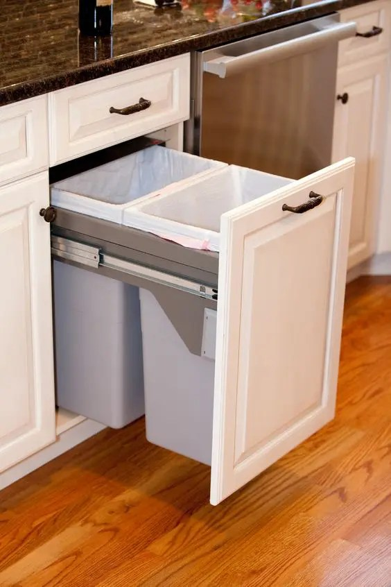kitchen trash can pull out chairs cheap 29 sneaky ways to hide a in your - digsdigs
