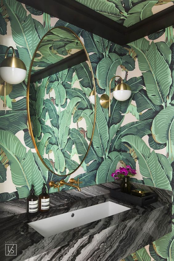 Black Glitter Wallpaper Bedroom 30 Stylish And Timeless Tropical Leaf D 233 Cor Ideas Digsdigs