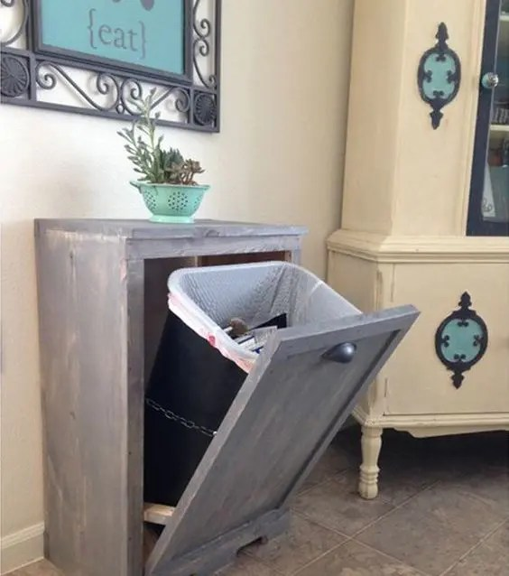29 Sneaky Ways To Hide A Trash Can In Your Kitchen  DigsDigs