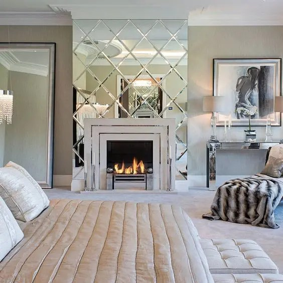 glam sofa low height 27 gorgeous wall mirrors to make a statement - digsdigs
