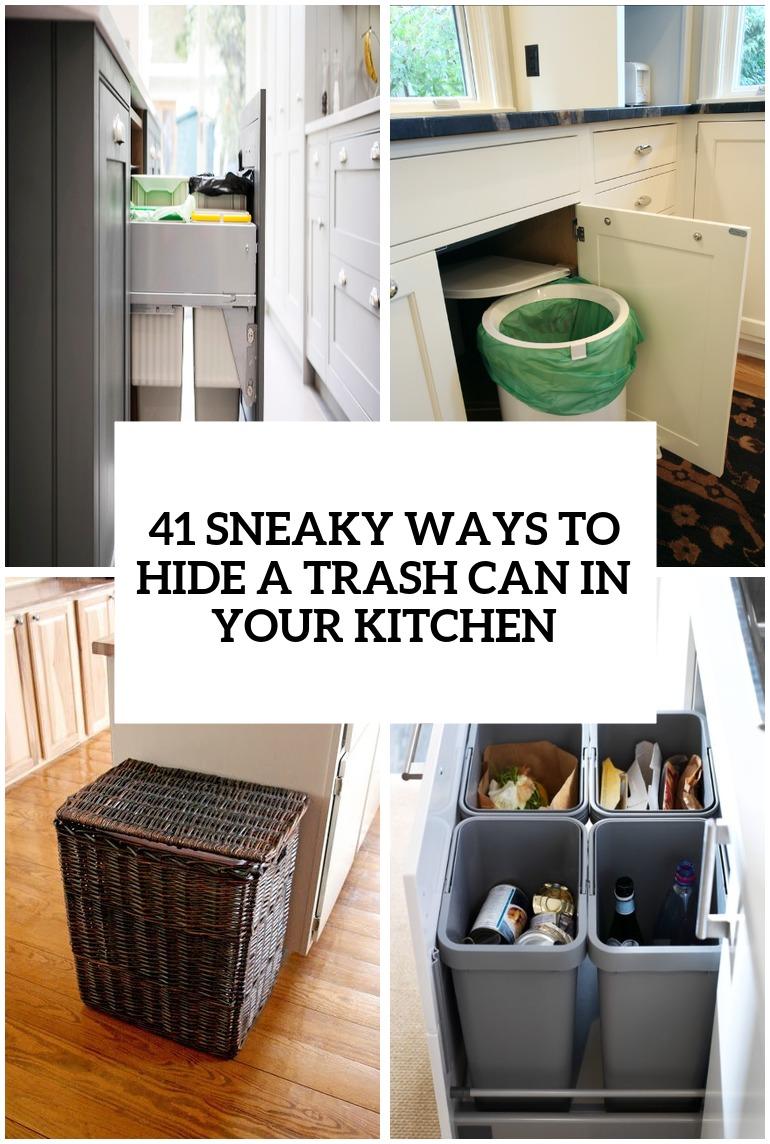 Hide Kitchen Trash Can