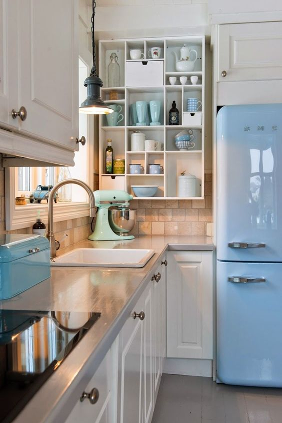colored kitchen appliances vintage appliance 28 inspiring colorful digsdigs a glossy sky blue fridge and matching box mint mixer mugs