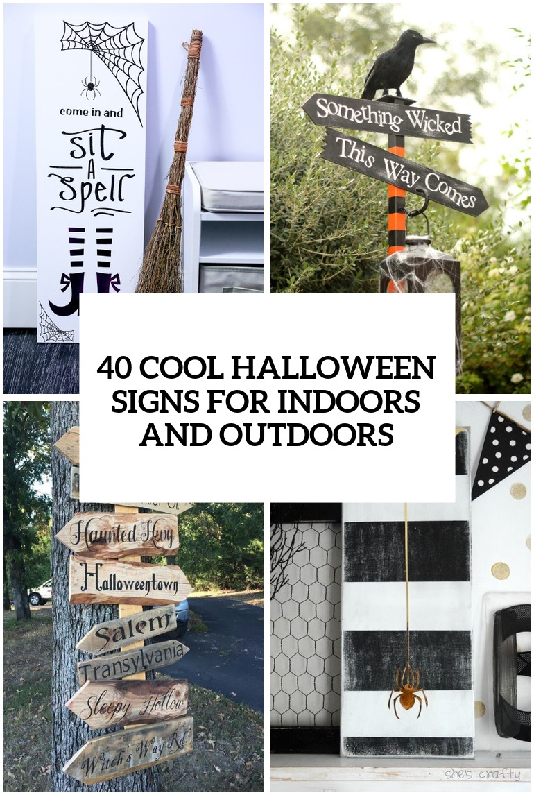 40 cool halloween signs for indoors and