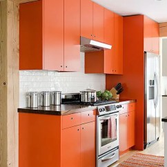 Orange Kitchen Chairs Discounted Appliances Decor Bar Ideas Where To Buy Used Islands At Home Depot 27 Cheerful Digsdigs A Bold With Simple Modern