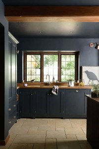 Dark And Atmospheric Vintage Moody Kitchen By deVOL - DigsDigs