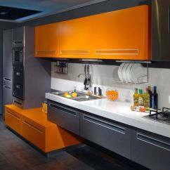 Retro Kitchen Tile Backsplash Planner 27 Cheerful Orange Decor Ideas - Digsdigs