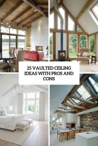 25 Vaulted Ceiling Ideas With Pros And Cons - DigsDigs