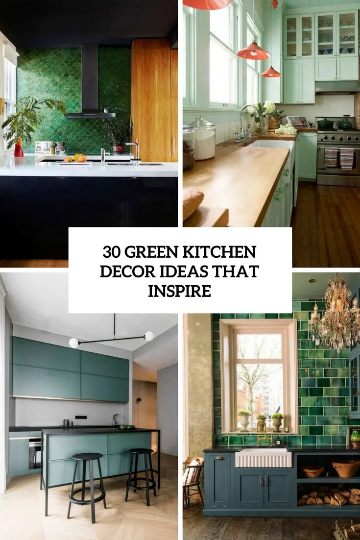 green kitchen decor what is the average cost of refacing cabinets 30 ideas that inspire digsdigs cover
