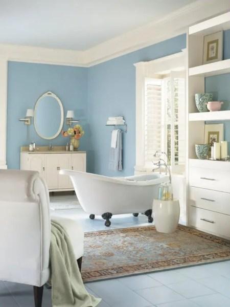light orange color bathroom 60-30-10 Rule In Home Decor: 25 Ideas - DigsDigs
