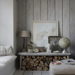 Wood Wall Living Room Pink Chair 25 Inviting Rooms With Walls Digsdigs A Chic Whitewashed Space Wooden And Floor Looks Comfy Greyish Welcoming