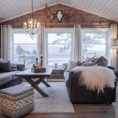 Wood Wall Living Room Houzz Formal Rooms 25 Inviting With Walls Digsdigs A Cozy Cabin Style Wooden And Several Windows That Bring