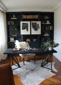25 Gorgeous Home Offices With Black Walls - DigsDigs