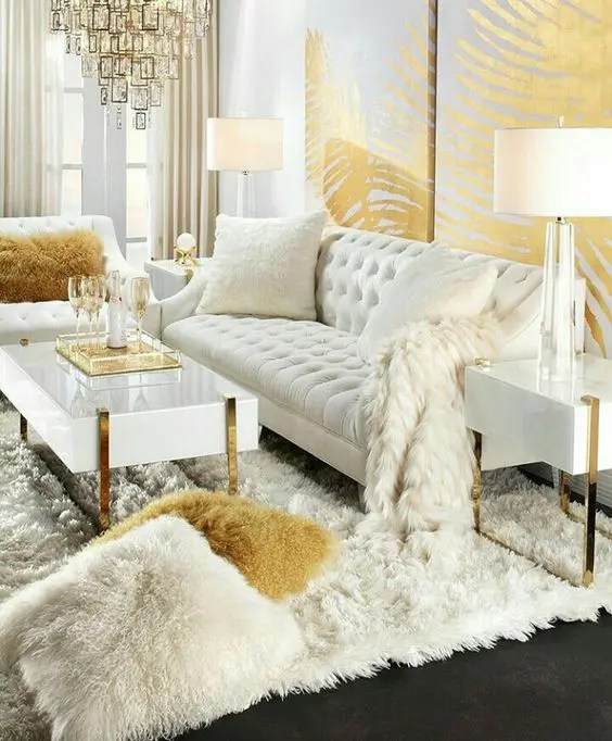 christmas decorating ideas for sofa table futura leather reviews 25 swoon-worthy glam living room decor - digsdigs