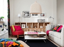 Dynamic And Lively Living Room With IKEA Furniture