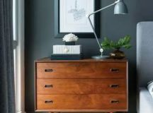 a mid-century moden dresser to use as a nightstand and match the interior