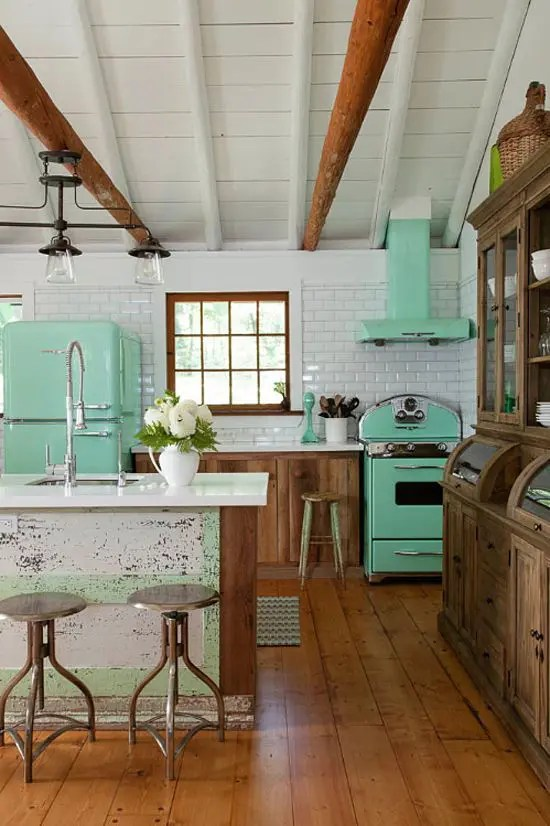 25 Ideas To Give Your Kitchen A Retro Feel DigsDigs