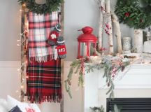 a couple of red touches will spruce up the decor, and buffalo check will make it more eye-catchy