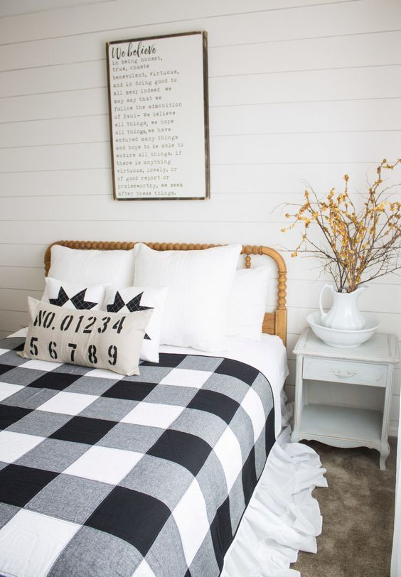 Black And White Pillows Check