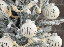 decorate your snowy Christmas tree with black and white ornaments - make them yourself