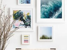 a breezy gallery wall with pics inspired by the vacations will make your entryway relaxing