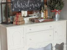 a large chalkboard sign in a stained frame is a great idea for any space
