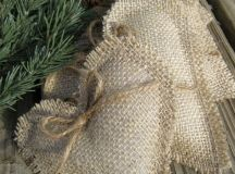 simple burlap heart ornaments with twine are nice and cute tree decorations