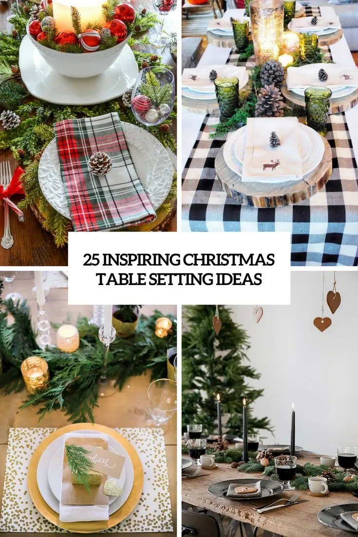 25 Inspiring Christmas Table Setting Ideas