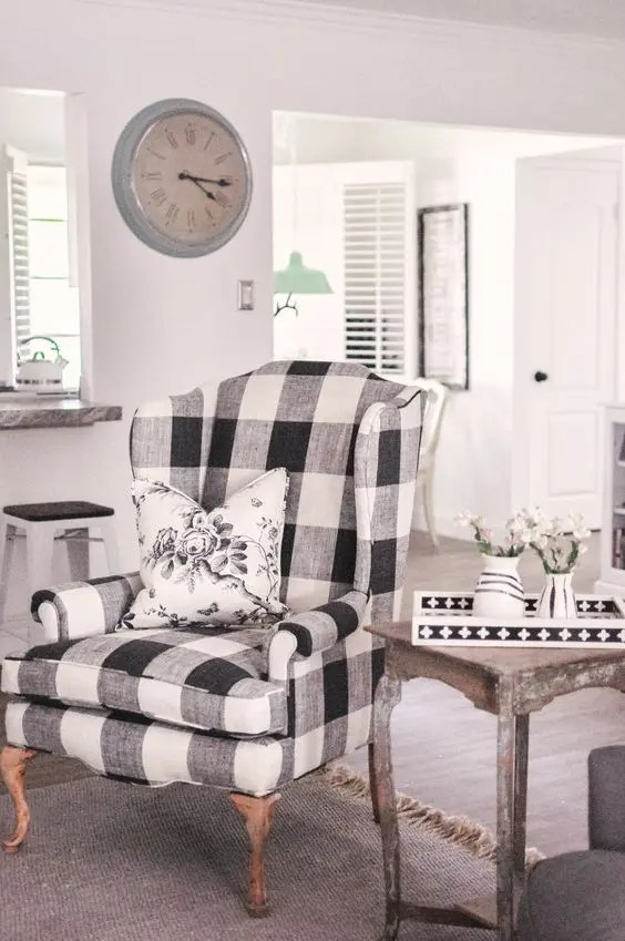 country style wingback chairs dining table leather 25 fresh ways to your home with buffalo check digsdigs a gorgeous vintage chair will look organic in rustic and