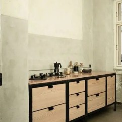 Metal Cabinets Kitchen Art For The 25 Trendy Freestanding Cabinet Ideas Digsdigs Light Colored Woo And Blackened A Bold Statement Look In