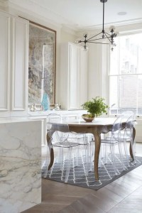 25 Ways To Match An Antique Table And Modern Chairs - DigsDigs