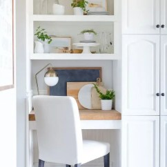 Kitchen Desk Chair Chromcraft Furniture With Wheels 25 Ideas To Incorporate An Office Nook Into A Digsdigs Build In Small Your Shelves And Covered