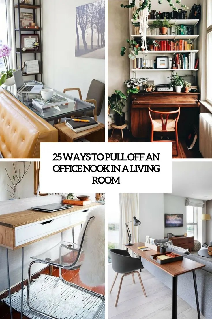 living room desk table lamp sets 25 ways to pull off an office nook in a digsdigs cover