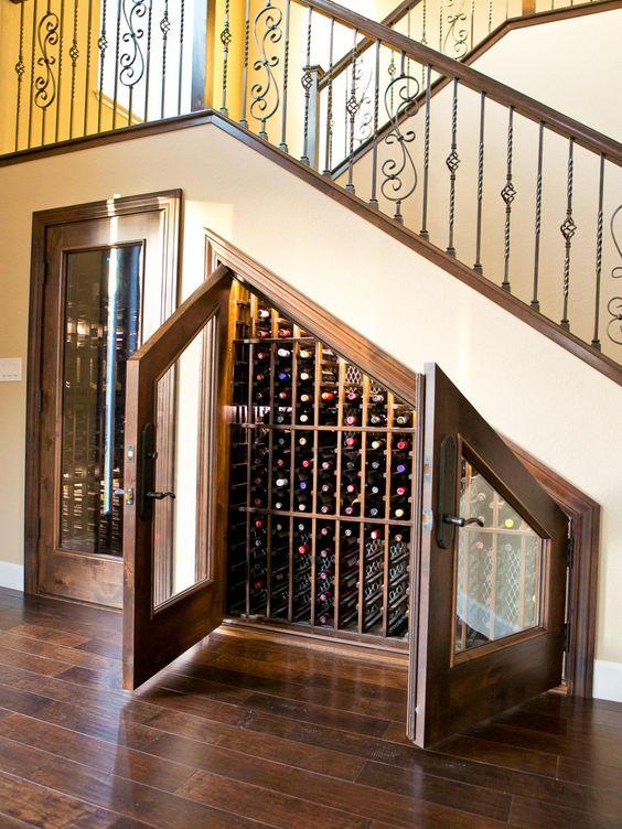 25 under stairs wine