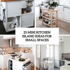 Small Space Kitchen Retro Table And Chairs Set 25 Mini Island Ideas For Spaces Digsdigs Cover