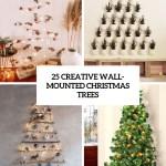 25 Creative Wall Mounted Christmas Trees Digsdigs