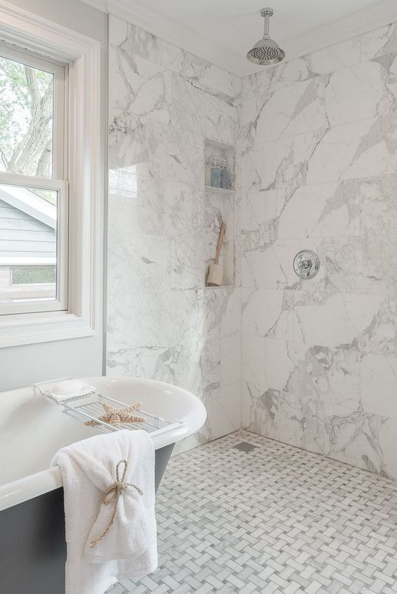to mix and match tiles in bathrooms