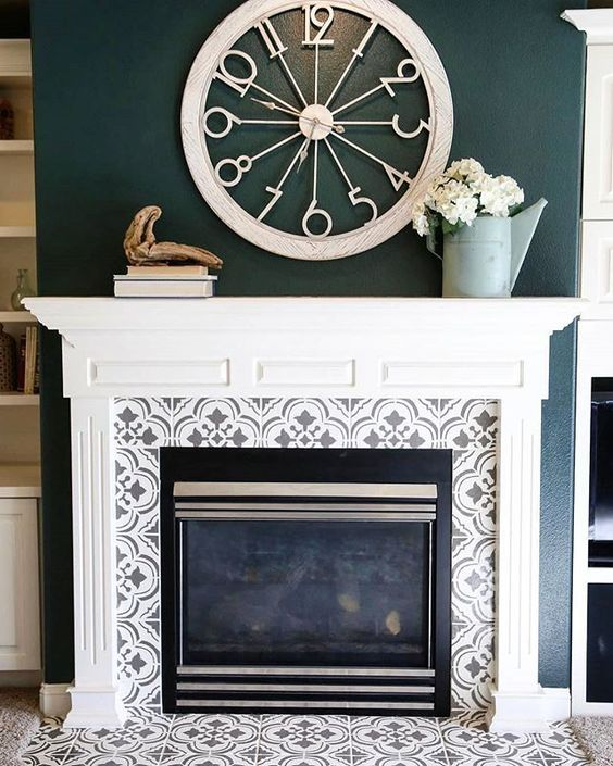 25 tiled fireplaces to accent your