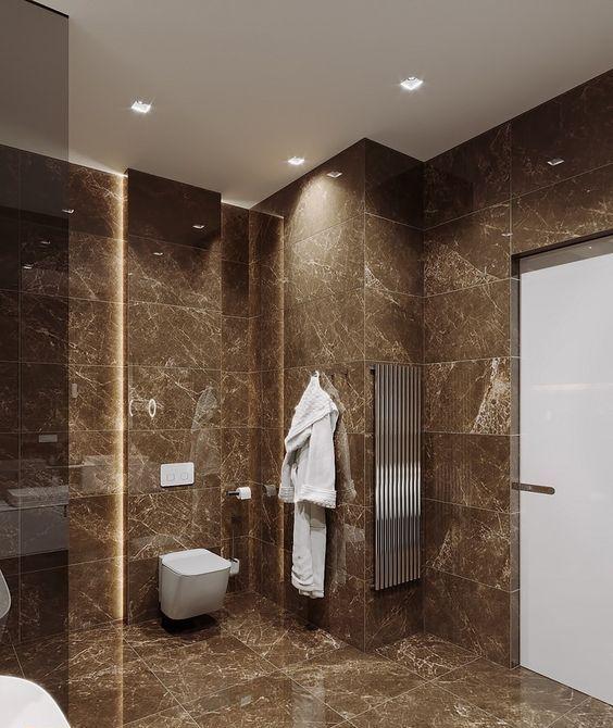 25 refined brown bathroom decor ideas