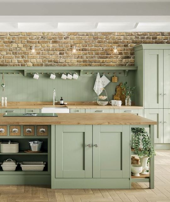 The Best 14 Images Of Sage Green Kitchens