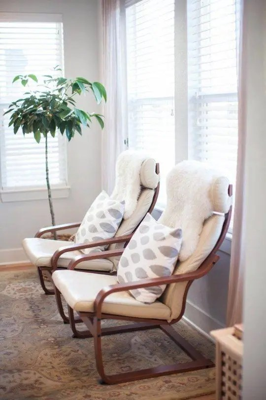 faux fur chair cover solid wood ladder back chairs 6 ikea poang uses and 22 awesome hacks - digsdigs