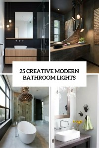 25 Creative Modern Bathroom Lights Ideas Youll Love ...