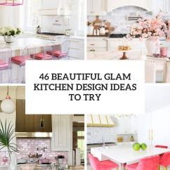 Kitchen Countertop Cover Exhaust Hood Cleaning Certification 26 Beautiful Glam Design Ideas To Try - Digsdigs