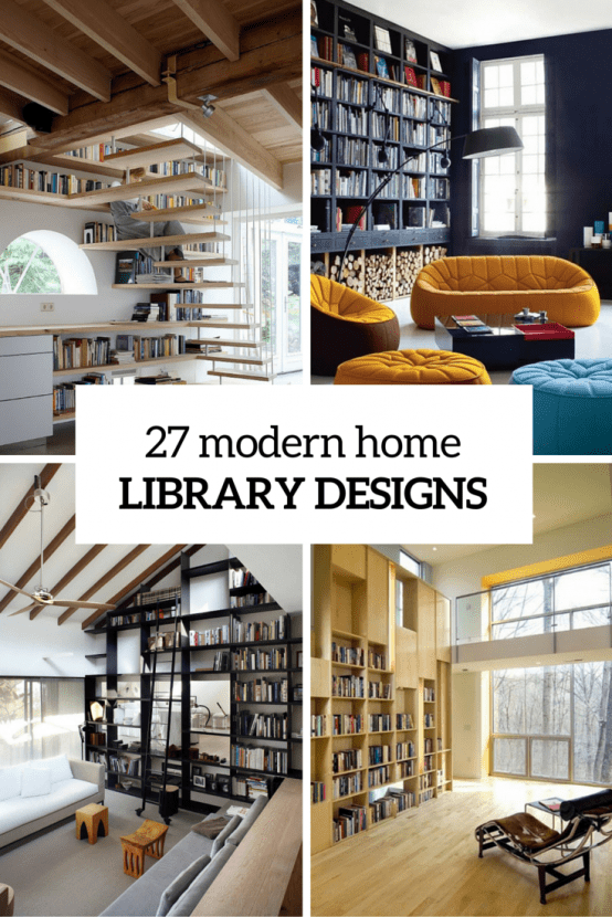 27 Modern Home Library Designs That Stand Out  DigsDigs