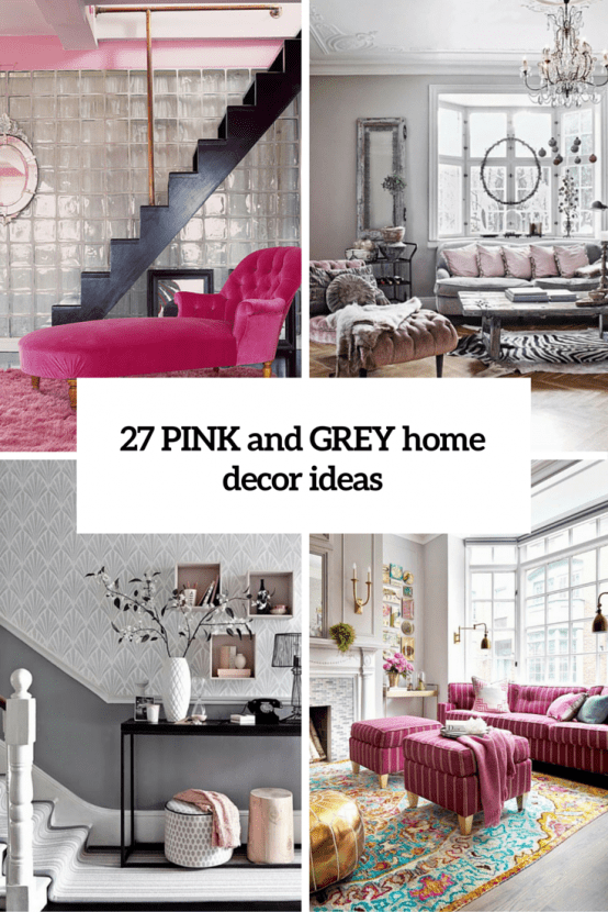 Metallic Grey And Pink 27 Trendy Home Decor Ideas  DigsDigs