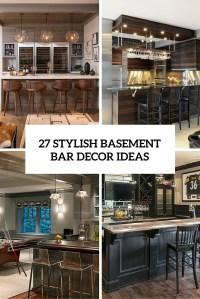 27 Stylish Basement Bar Dcor Ideas - DigsDigs