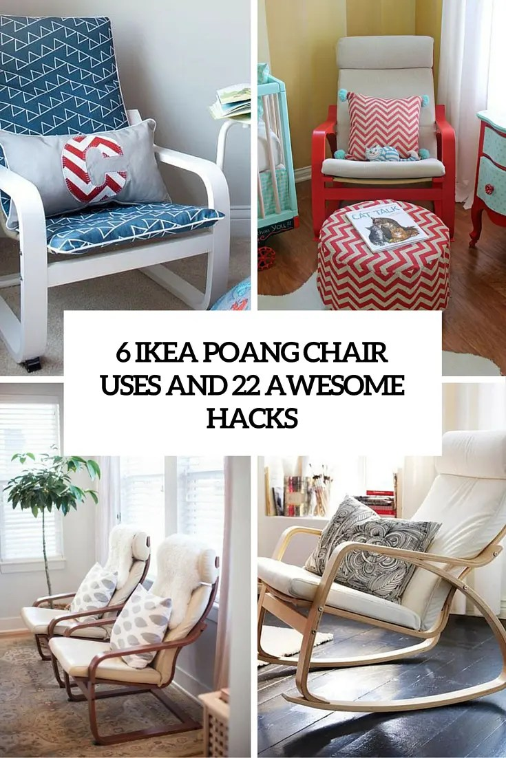 armchair cover diy velvet wingback chair 6 ikea poang uses and 22 awesome hacks - digsdigs