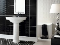Beautiful Wall Tiles For Black And White Bathroom  York ...