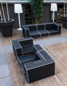 Black And White Outdoor Wicker Furniture Haute Terasse