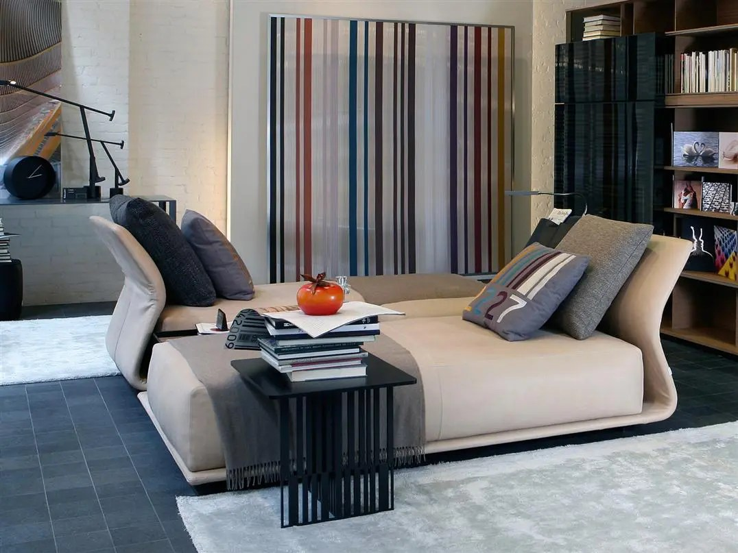 comfortable contemporary sofa catnapper dallas leather reclining bed by molteni digsdigs