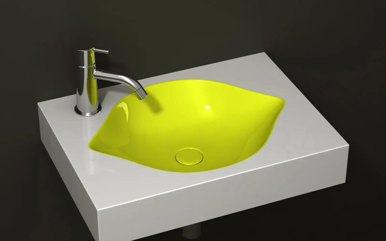 Cool FruitInspired Bathroom Sinks  Lemon by Cenk Kara